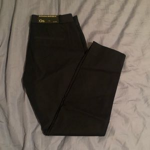 NWT banana republic black Sloan pants in 0S